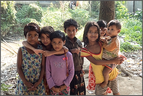 Village children in Bangladesh