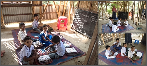 Village school children in rural Bangladesh