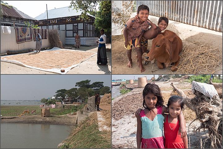Life on a Char on the river Meghna, Bangladesh