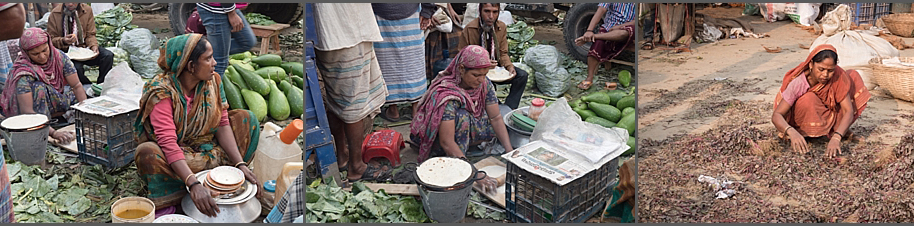 Women working at Kawran Bazaar, Dhaka