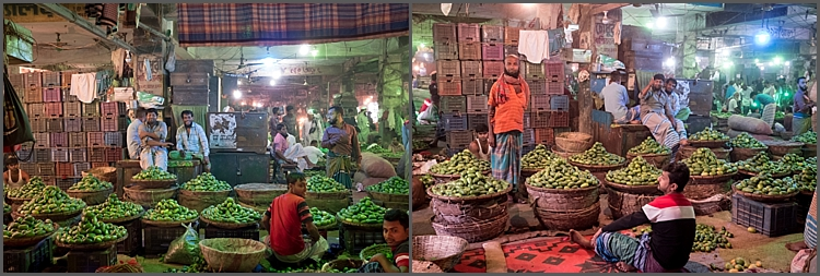 Indoor market at Kawran Bazaar, Dhaka