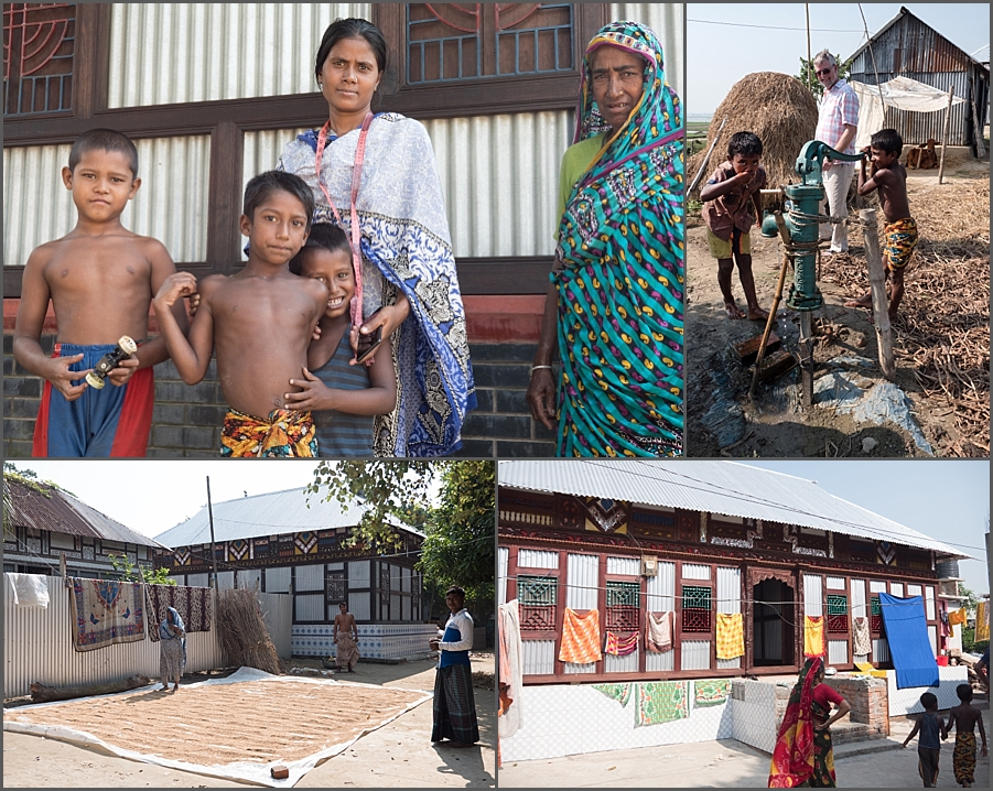 Villagers on their Char in Bangladesh