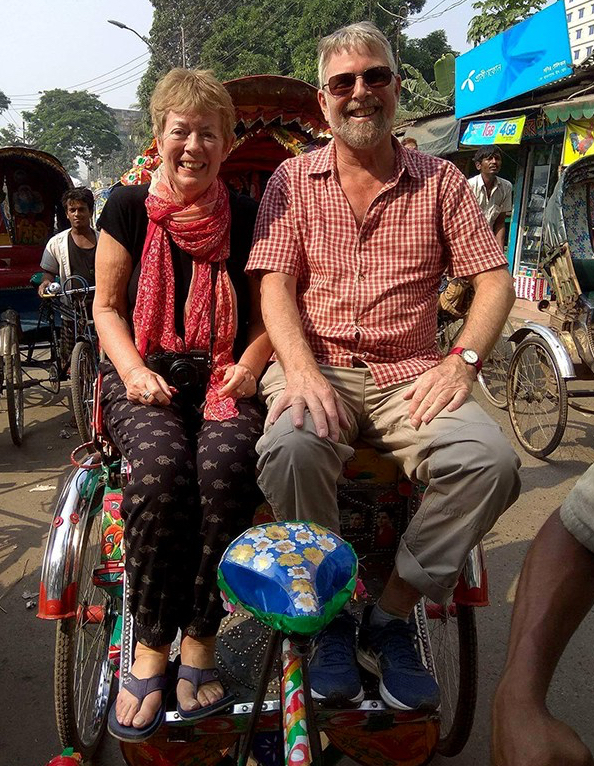 Rickshaw ride in Dhaka