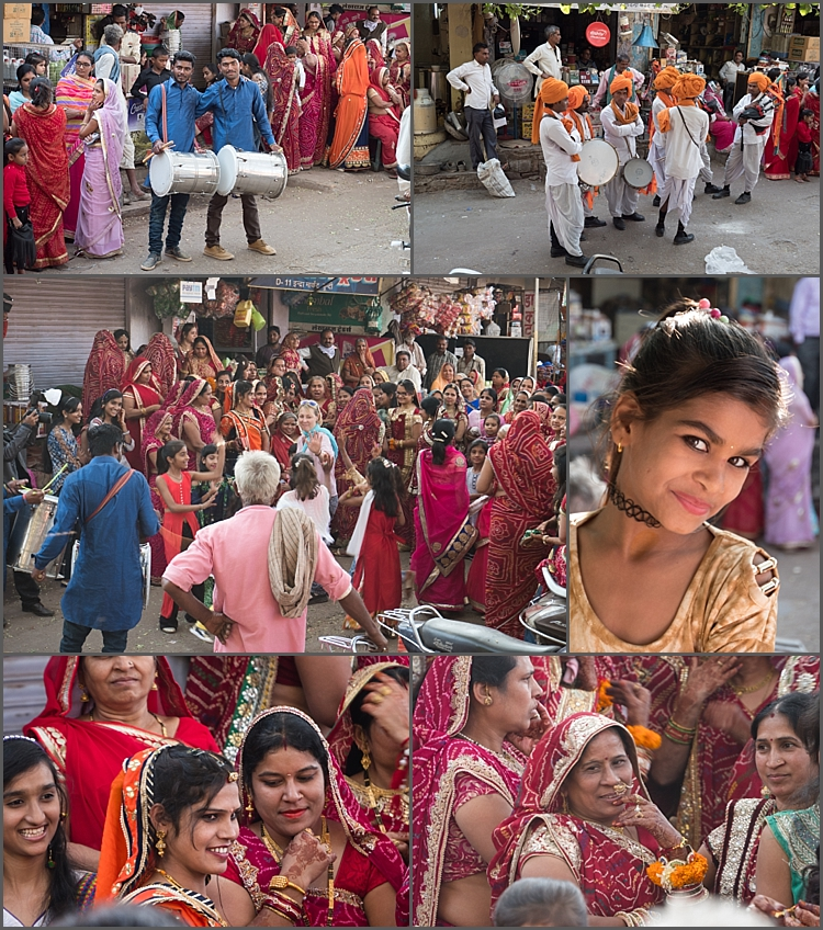 Wedding celebrations in the streets of Bundi