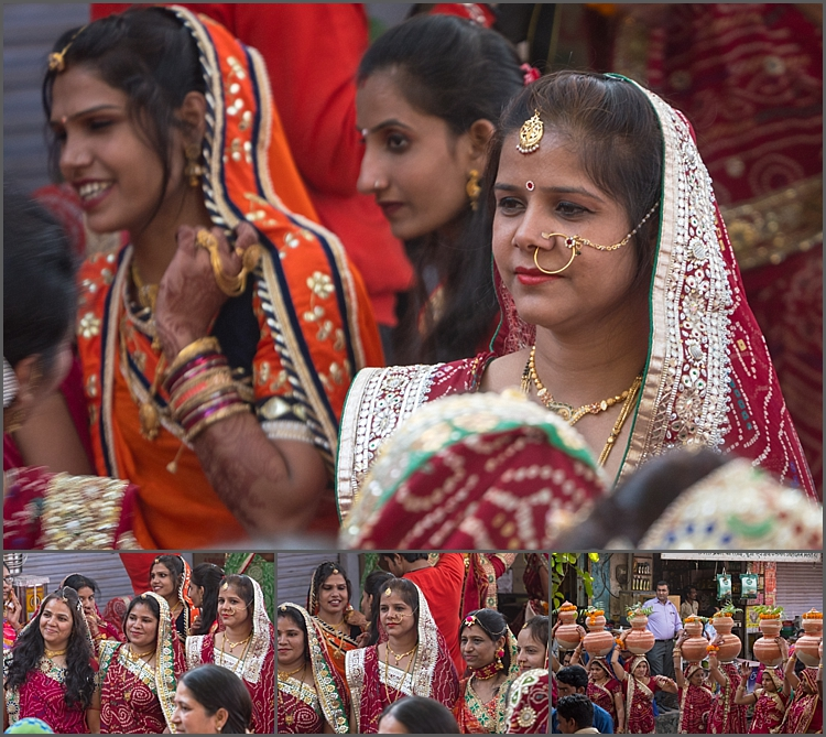 The bride and her party in Bundi