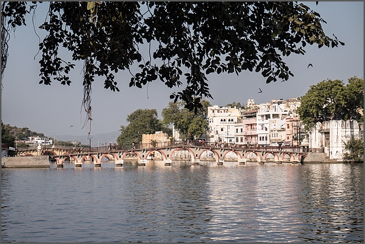 Footbridge one lake Pichola