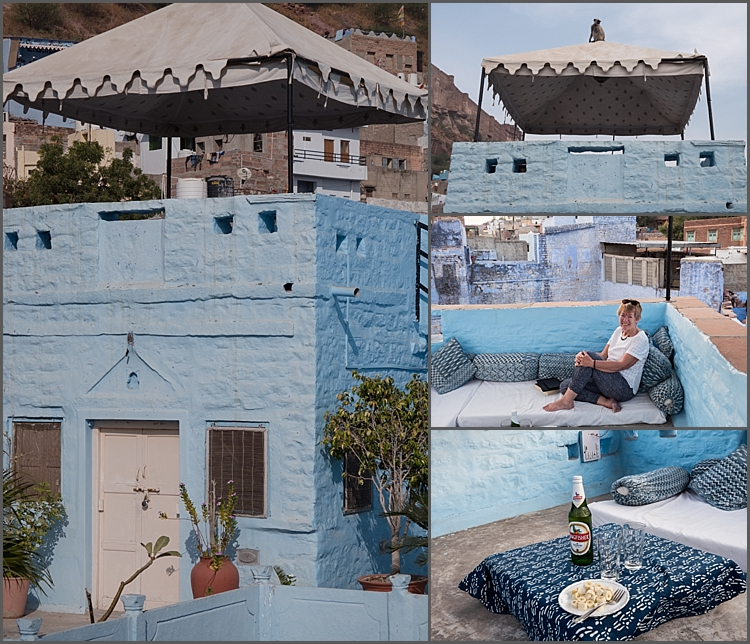 The 'eyrie' and chill out place at Bristow's Haveli in Jodhpur