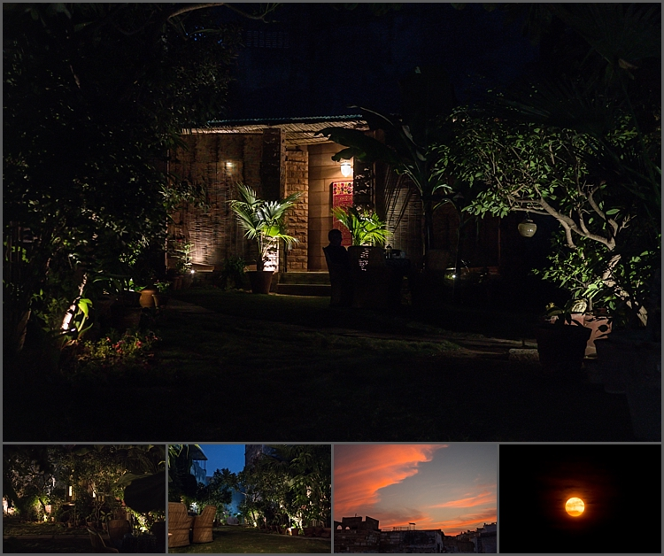 A peaceful evening at Bristow's Haveli in Jodhpur with a super moon