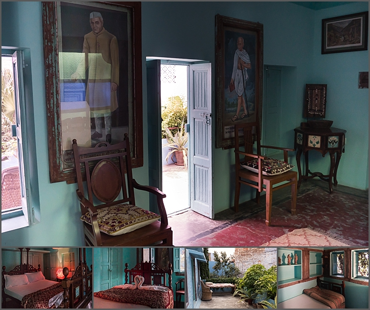 One of the suites at Bristow's Haveli in Jodhpur