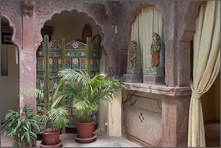 One of the stunning areas in Bristow's Haveli in Jodhpur