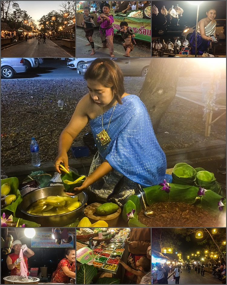 New weekend night market in Ayutthaya, Thailand