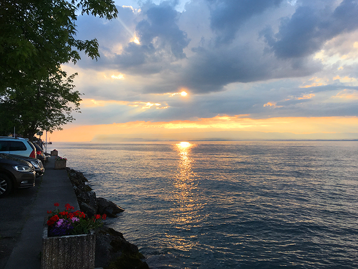 Sunset over Lake Geneva by Meillerie