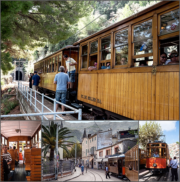 100 year old narrow gauge railway from Palma to Soller in Mallorca and the old tram to Soller Port
