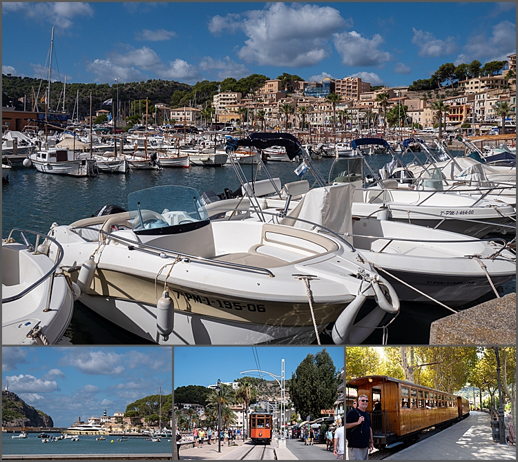 Sollar port, Mallorca with old tram by Maggie Booth Photography