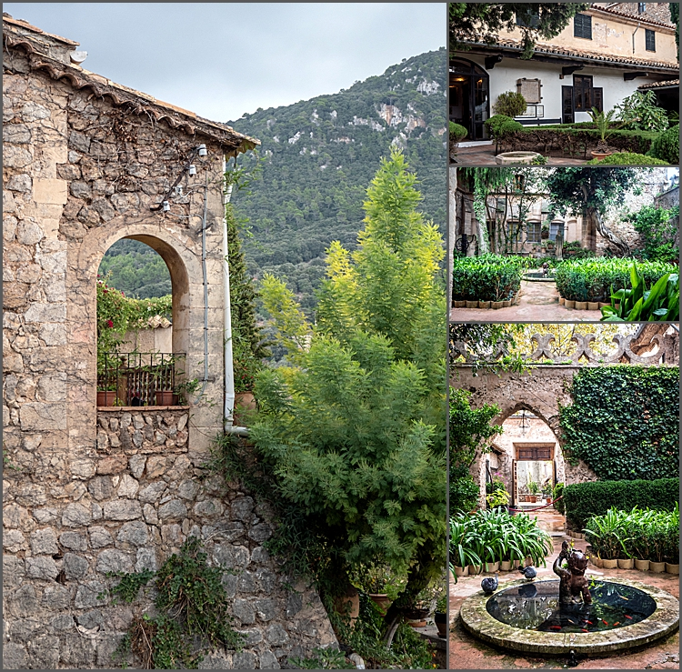 The 18th century monastery in Valdemossa and and the gardens The Palace of King Sancho by Maggie Booth Photography