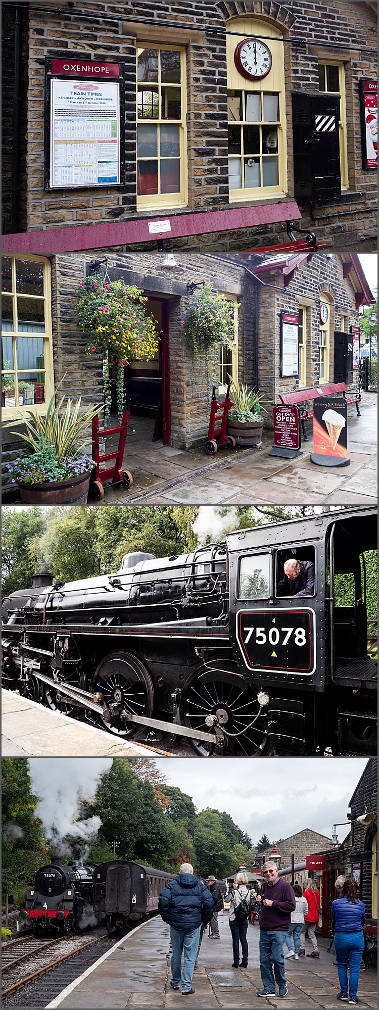 Oxenhope station and engine 75078 by Maggie Booth Photography
