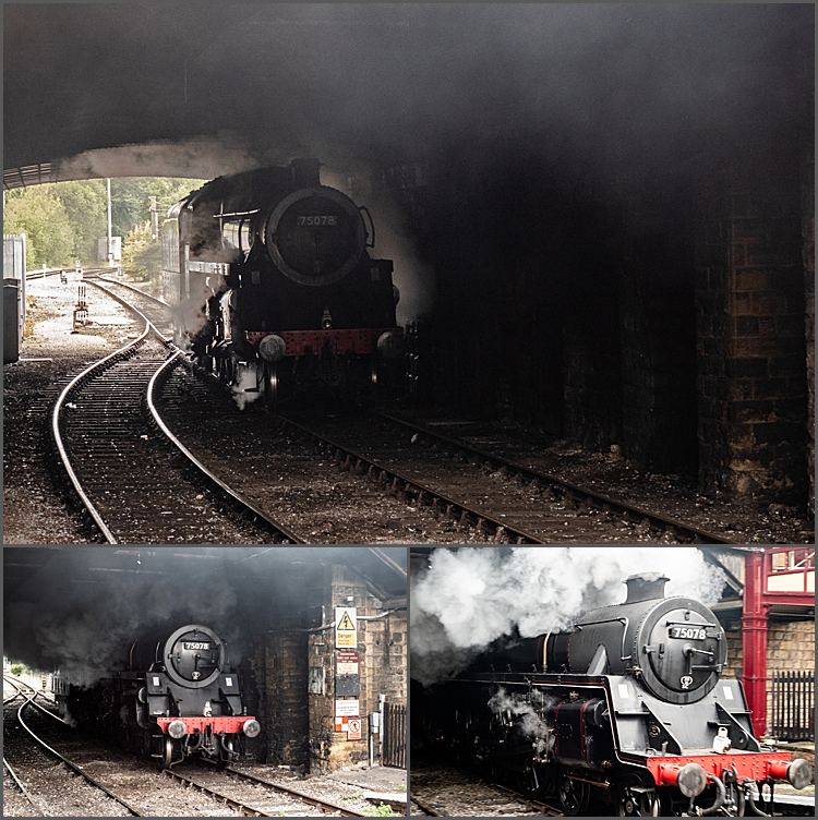 Engine 75078 on the KWVR at Keighley by Maggie Booth Photography