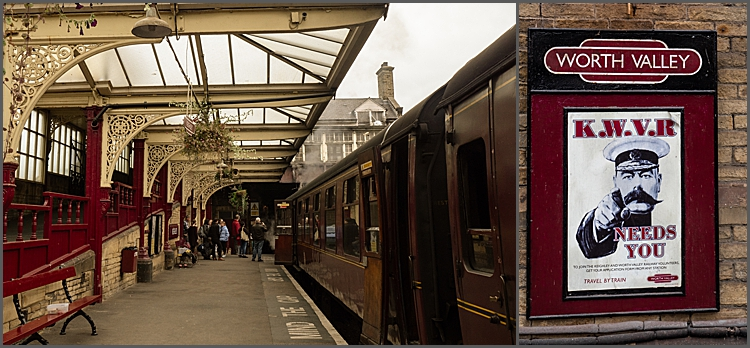 Keighley Station on the Worth valley railway.