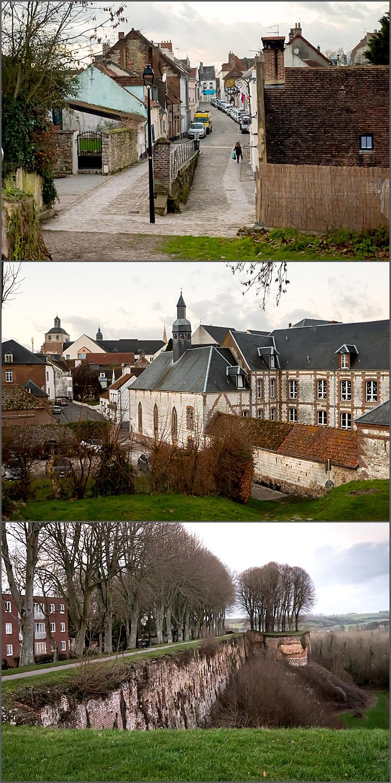 Streets in Montreuil-sur-mer, Pas-de-Calais region