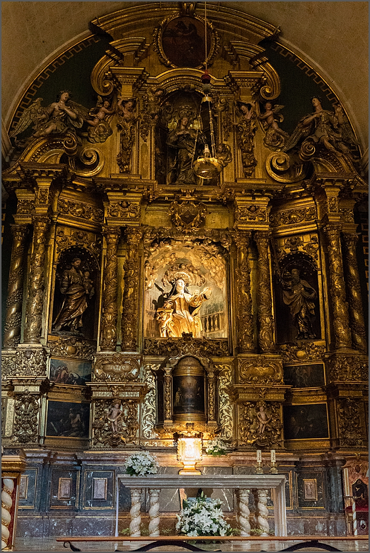 Tiny church altar-piece. Palma, Mallorca by Maggie Booth Photography