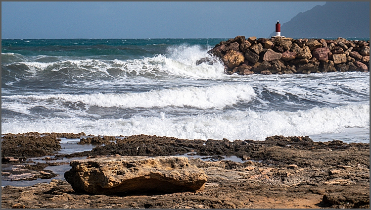 Wild seas on the west coast of Mallorca by Maggie Booth Photography
