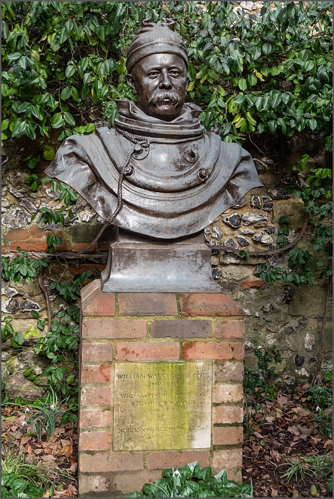 William Walker, famous diver, who saved Winchester Cathedral