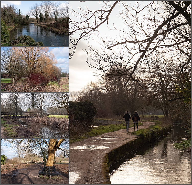 Walk to St Cross, Wilts by the river.