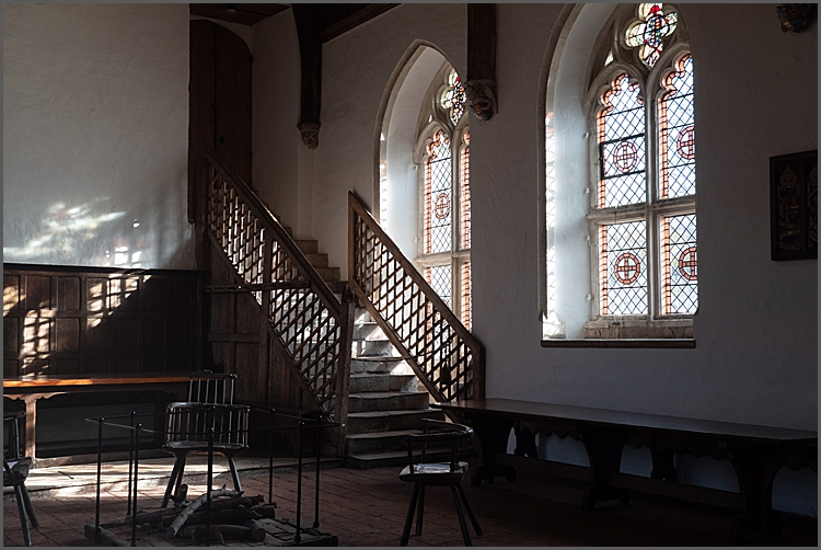 Inside Brethren's Hall St Cross, Winchester