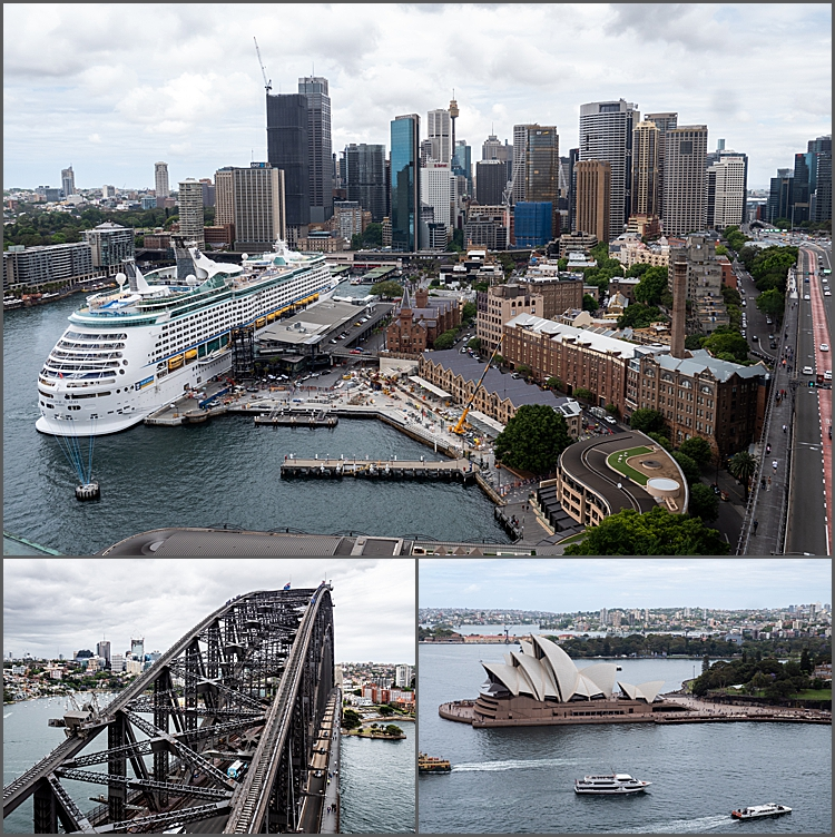 A view from the south east pylon of the Sydney Harbour Bridge