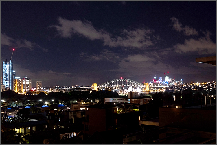Landmarks of Sydney at night