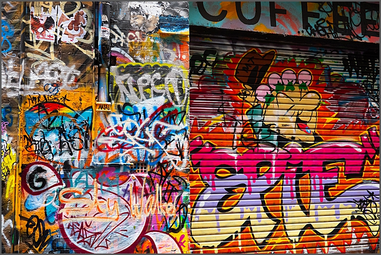 Graffiti on Hosier Lane, Melbourne.