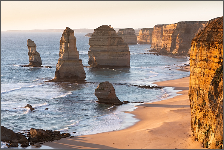 Dusk at The Twelve Apostles, Great Ocean Drive Victoria Australia