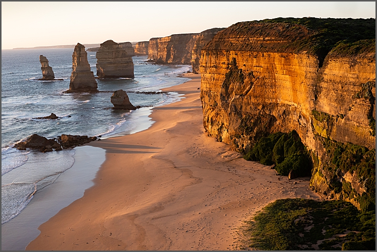 Sunset at The Twelve Apostles, Great Ocean Drive Victoria Australia