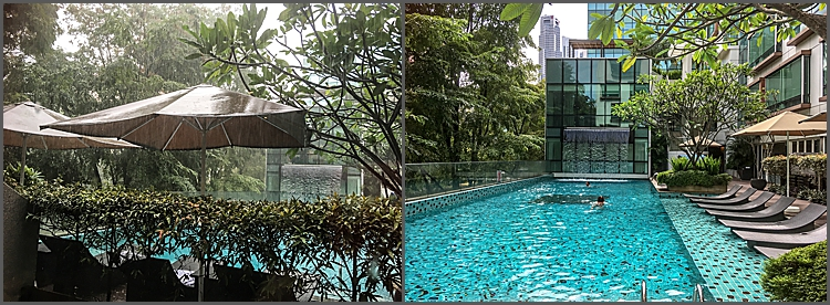 Swimming pool at The Park Regis Hotel, Singapore.