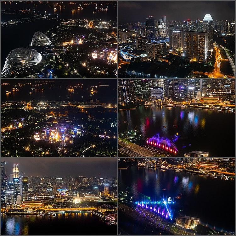 Views from Sands SkyPark Observation Deck , Singapore.