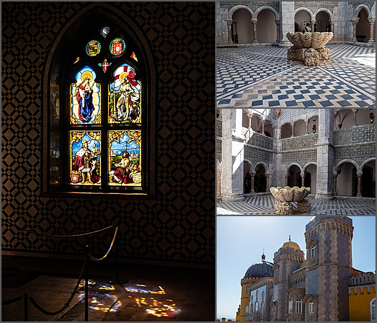 Just some of the stunning features of Pena Palace.