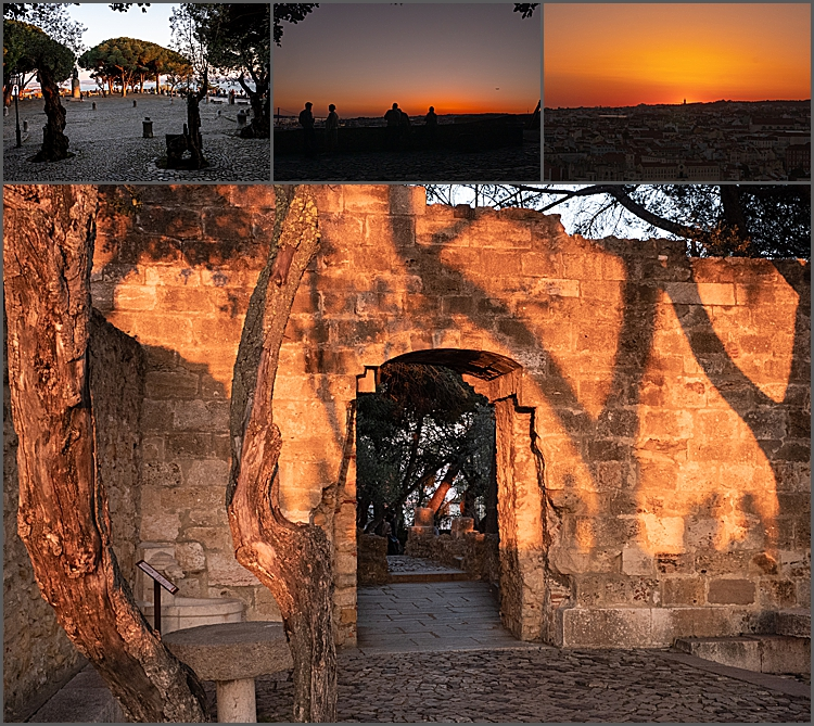Sunset at Castello de S. Jorge, Lisbon
