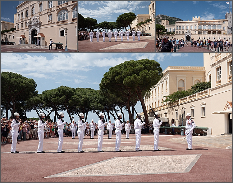 The Prince's Palace and changing of the guard.
