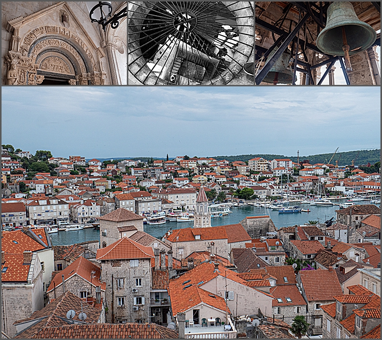 The bell tower of the Cathedral of St Lawrence, Trogir, Croatia